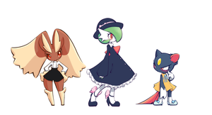 Pokemon in Clothes by conbudou