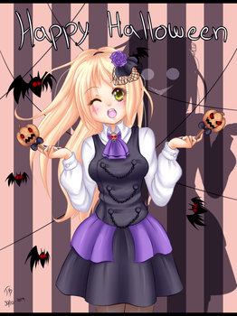 want a pumpkin lollipop.. SPEEDPAINT by Bjorkan