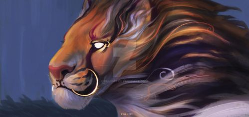 Riiong- Lion with rings by Fulemy