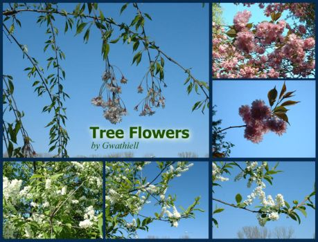Tree Flowers Pack by Gwathiell