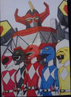 Mighty Morphin Power Rangers With Megazord by LeeBurrows
