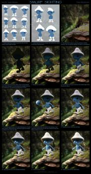 Smurf Sighting - Process by NateHallinanArt