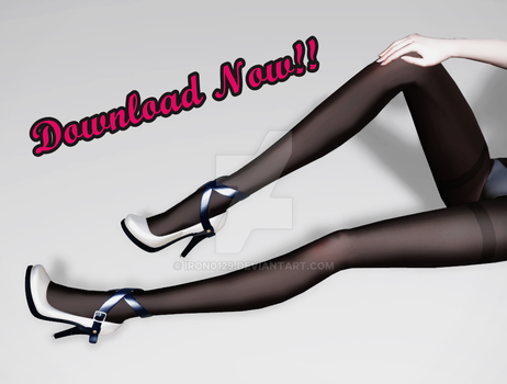 MMD Strap Heels Download! by iRon0129