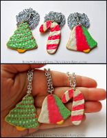Frosted Christmas Sugar Cookie Necklaces by Bon-AppetEats