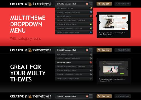 Multitheme Drop-down by DaJyDesigns