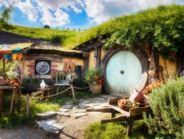 Impression from Hobbiton by wolfblueeyes