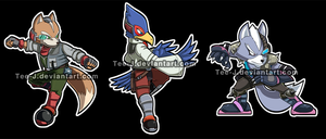 Smash Stickers :StarFox Set by Tee-J