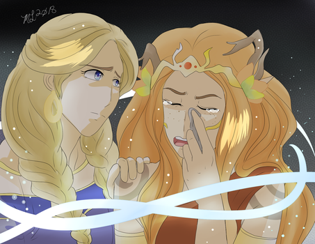 Allura and Keyleth's Tearful Moment CR 2018 by MeghansDreamDesigns