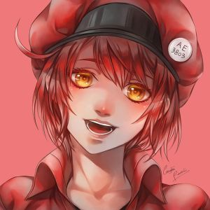 Red Blood Cell Headshot by CeryliaRectris