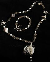 Ammonite Double Clasp Necklace by Entophile