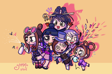 Ace Attorney Sidekick Girls by Yamino