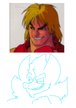 Ken MASTERS the Sexy Stare (and Argro) by COMIC-FIRUKO