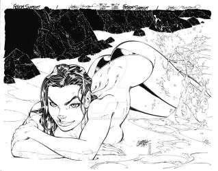 Fathom pin-up by TimTownsend