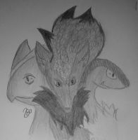 Sceptile, Zoroark, Archeops - Pokemon