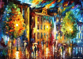 Night Enigma 2 by Leonid Afremov by Leonidafremov