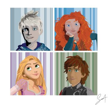 The Big Four vector portraits by SabineDraws