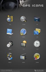 GPS icons by kingyoART