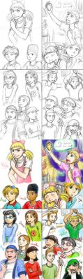 Hey Arnold sketches-- my style lol by genaminna