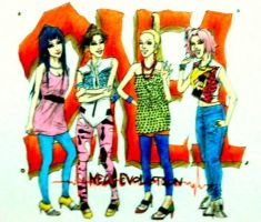 Naruto girls as 2NE1 by Amira-Amilia