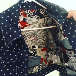 Inside lining of capsule corp jacket by Sci00