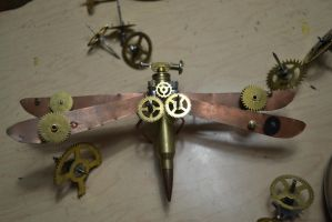 Steampunk dragonfly 2 by AmbitiousArtisan