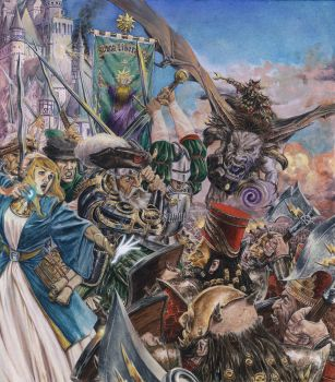 9th Age Rulebook Cover, oil on canvas. by MiCk1977