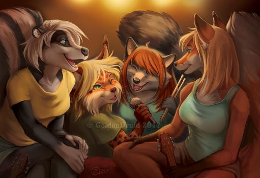 After Band Practice by GoldenDruid