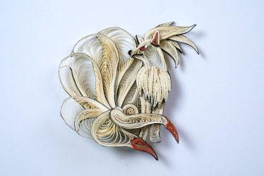 Pokemon Paper Quilling Art - 038 Ninetales by wholedwarf