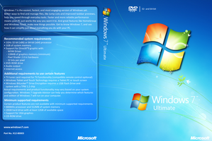 Windows 7 Ultimate Cover by B3RG3R