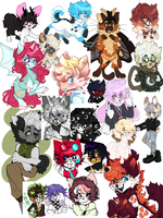 big ol furry art dump by bugisland