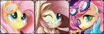 Pony Fluttershy ~ Page decoration by CookieChanS2