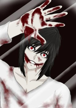 Jeff the killer screensaver by xxinfinite-firexx