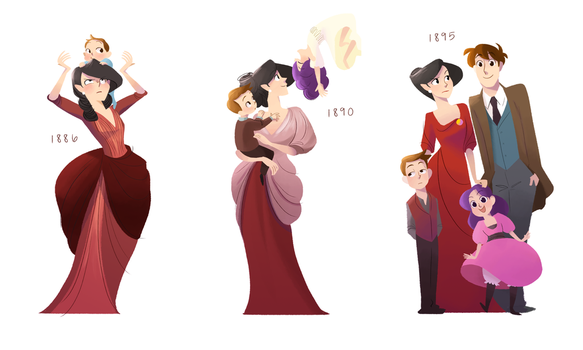 Vicky through the years by Tiuni