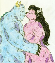 Kissing Sulley and Mary by Jose-Ramiro