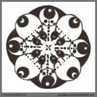 Atramentous Dreams Mandala by Quaddles-Roost