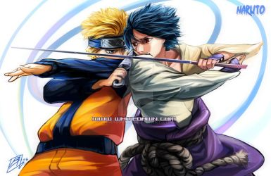 NarutoSasuke_Battle Once More by borammy