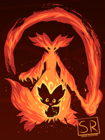 I Wanna be a Fire Mage Delphox - shirt design