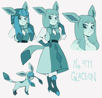 No.471 - Glaceon by MossiDraws