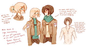 attack on titan ocs: ailu and ilya by s-alish