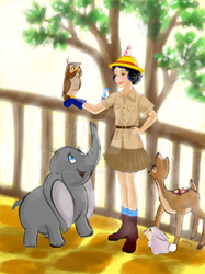 Dream big, Princess! - Snow White the Zookeeper by AmadeuxWay