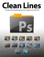 Clean Lines Folder Set CS4 by johnamann