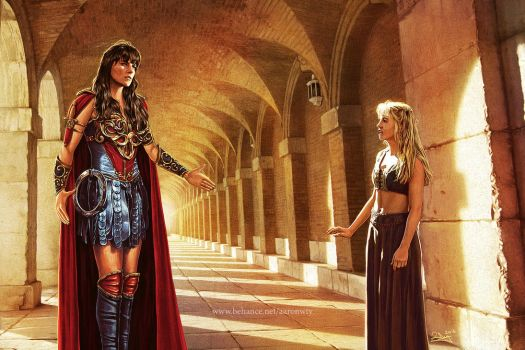 Xena meets Gabrielle by aaronwty