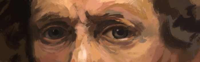 Study of Rembrandt's Eyes by Birgitte-Gustavsen