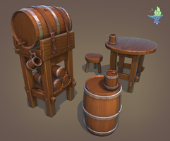 Barrel Tavern Set by BenFlex