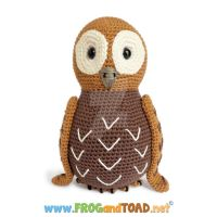 Amigurumi Kit TAWNY la chouette the owl by FROG-and-TOAD