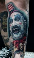 Captain Spaulding tattoo by BluEHYPer
