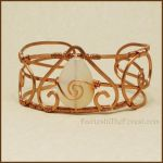 Copper and White Agate Bracelet by Gailavira