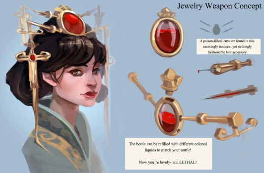 Jewelry Weapon Concept by taho