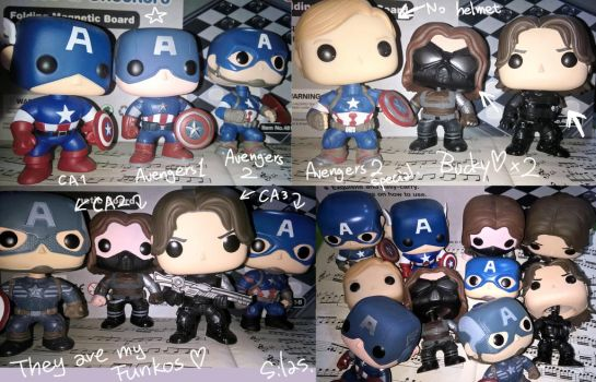My Captain America and Winter Soldier Funkos by SilasSamle