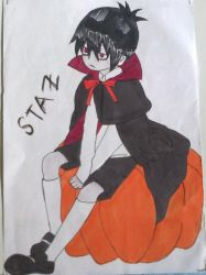 Sulking Staz from Blood Lad by Mahiro12